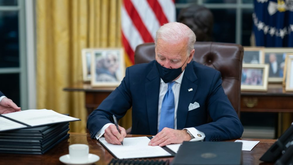 Joe Biden signing bill