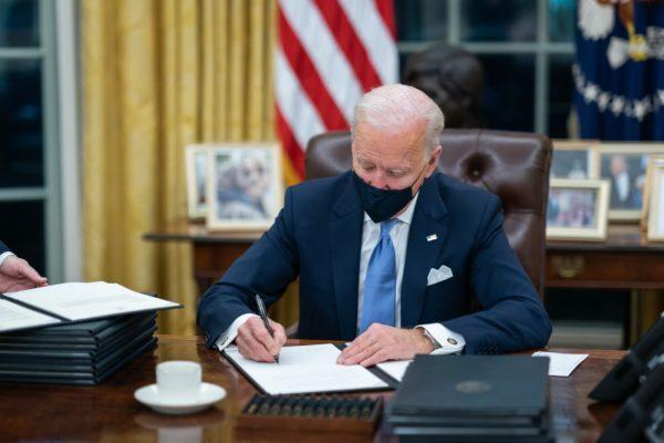 Joe Biden signing bill